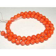 珊瑚(染色) ラウンド オレンジ 連販売 約8mm