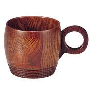 尾崎 木製 コーヒーカップ ライン 拭漆