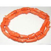 珊瑚(染色) 枝 連販売 約30×13mm オレンジ