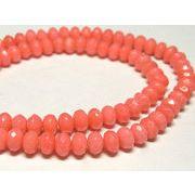 珊瑚(染色) 連販売 ピンク ボタンカット 約6×4mm