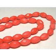 珊瑚(染色) 連販売 ピンク オーバルカット 約10×6mm
