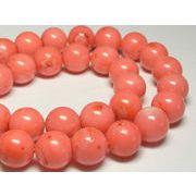 珊瑚(染色) 連販売 ピンク ラウンド 約12-13mm