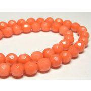 珊瑚(染色) 連販売 ピンク ラウンドカット 約8mm