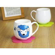 【強化】 マグカップ おしゃれ 440ml絵柄付丸いマグカップ 絵柄(十二支 羊)