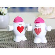 【強化】 調味料入れ 人形型シリコンキャップ付き 塩 2個セット (キャップの色はピンク色)