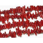 珊瑚(染色) 連販売 真紅 サザレ 約10-20mm