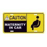 アメリカン雑貨★看板★妊婦さんが乗っています★CAUTION MATERNITY IN CAR★