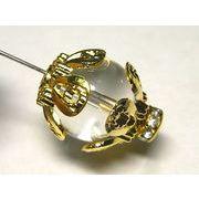 チベタン 座金 フラワーリング ゴールド 約14mm【20個セット】