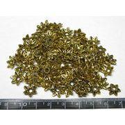 チベタン 座金 フラワーリング 金古美 約10mm【100個セット】