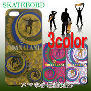 ハワイアン雑貨 iphone5 スマホ各機種対応 ケース MOANALANI カバー 3color SKATEBORD スケートボード