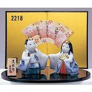 ★ひな祭りを飾る★ 縁起の良い雛人形【染錦 睦立雛】