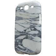 Galaxy S3 / S3α SC-06D SC-03E デコジャケット | すり石みかげ調ホワイト |