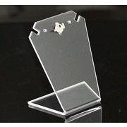 アクリル イヤリングホルダー 透明クリア 4サイズあり ディスプレイに eh32