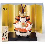 ★端午の節句を飾る★ 陶製の五月人形 【子供大将 福鈴】