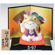 ★端午の節句を飾る★ 陶製の五月人形 【招き猫大将】
