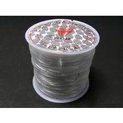 ハンドメイドアクセサリー用□ オペロン 伸縮糸 白 0.8mm約70m