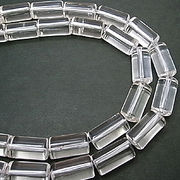 天然石 パワーストーン 卸売/ 水晶・クリスタルクォーツ チューブ状ビーズ 15x8ミリ 円柱 1連