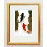 吉岡浩太郎『開運』風水額(大衣) 「夫婦滝昇り鯉」