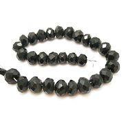 天然石 ビーズライン 卸売/ オブシディアン(Obsidian) ボタンカットビーズ