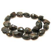 天然石 ビーズライン 卸売/ オブシディアン(Obsidian) タンブルカットビーズ