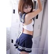 学生服)青スカートのコスプレ女子制服コスチューム7002
