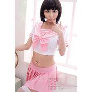 ピンクのセーラー服セクシーコスプレ7037