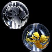 天然石 手彫り天使弓持ち(キューピット)水晶彫り粒売り1個【FOREST 天然石 パワーストーン】