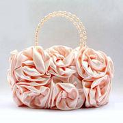 バラの花いっぱい使ったパーティー バッグ