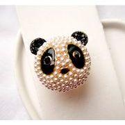 可愛いパンダのリング 指輪 大きいパンダ 動物 指輪 CN-317