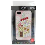 【iPhone 4/4S対応】DFD iphoneケース 3Dフルカラー ツヤありの光沢ある仕上がり お菓子の家 スイート