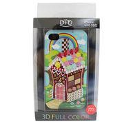 【iPhone 4/4S対応】DFD iphoneケース 3Dフルカラー ツヤありの光沢ある仕上がり お菓子の家 ポップ