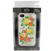 【iPhone 4/4S対応】DFD iphoneケース 3Dフルカラー  ハードなのにソフトな手触り 薔薇 ピンク