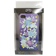 【iPhone 4/4S対応】DFD iphoneケース 3Dフルカラー  ハードなのにソフトな手触り 薔薇 紫