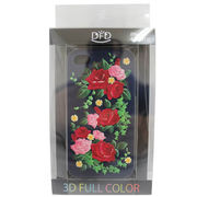 【iPhone 4/4S対応】DFD iphoneケース 3Dフルカラー  ハードなのにソフトな手触り 薔薇 紺