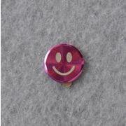 iPhone&ipad&itouch用■メタルシール■ホームボタンシール■笑顔&ピンク