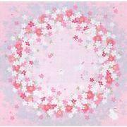 【ご紹介します!かわいらしさにこだわった綿素材の小ふろしき 】さくらの輪(ピンク)