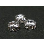 平ロンデル 古代銀 約5mm 【50個セット】