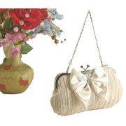 クリスマスパーティ、結婚式、卒業式にぴったり、サテンプリーツ生地のきれいな、パーティ-バッグ