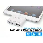 <タブレット用品>データを簡単に取り込める。 iPad(第4世代) iPadmini用Lightning SDカードリーダー
