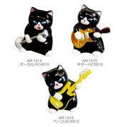 黒猫バンド置物