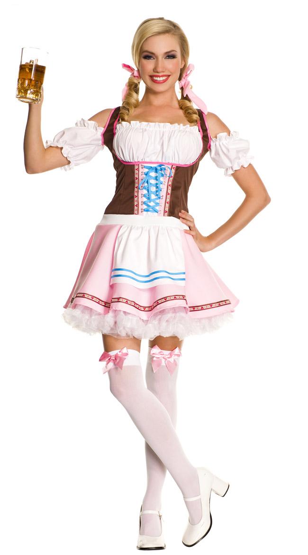 【即納】ピンクメイド服 小さいエプロン付 ドレス コスプレ ハロウィン メイド コスチューム