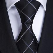 激安☆選べる!!欧米◎シルク絹100%◎お洒落ネクタイ◎ブルーチェック柄◎結婚式◎ビジネスに最適!