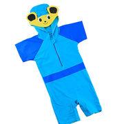 激安☆選べる!!可愛い子供水着◆泳ぎ服◆キッズ男の子◆帽子付き◆水泳◆ウサギ 6着/セット