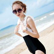 激安☆選べる!!可愛い水着◆泳ぎ服◆ワンピ水着◆白黒◆着痩せ◆フリル◆ベアトップ◆セクシー