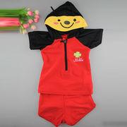 激安☆選べる!!可愛い子供水着◆泳ぎ服◆キッズ男の子◆帽子付き◆水泳◆テントウムシ5着/セット