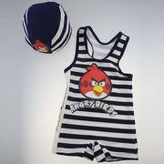 激安☆選べる!!可愛い子供水着◆泳ぎ服◆キッズ男の子◆帽子付き◆水泳◆鳥 5着/セット