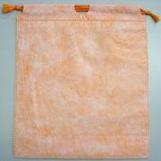 和紙柄巾着袋オレンジ