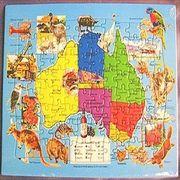 オーストラリア地図96ピースパズル