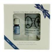アロマコンセントランプ ギフトセット アンティーク(essential oil:ラベンダー5ml付き)◆室内照明