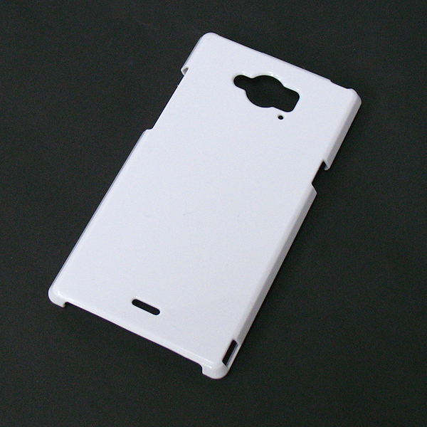 【SH-01G/PC】docomo AQUOS ZETA (アクオスゼータ) ホワイト(白色)ハードタイプPC素材